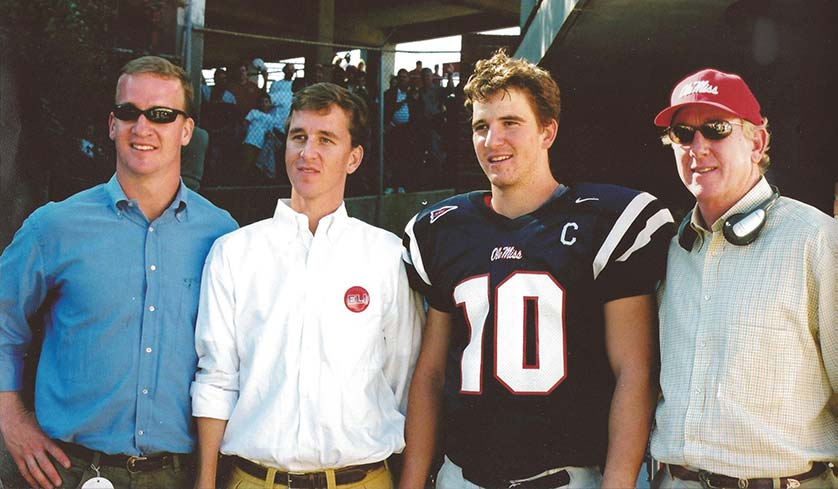 Peyton, Cooper, Eli and Archie Manning